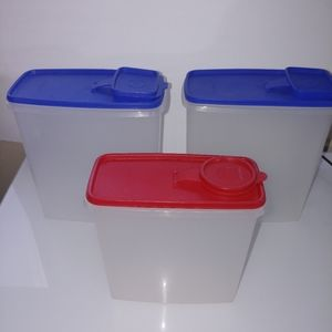 💜Tupperware cereal stores x3